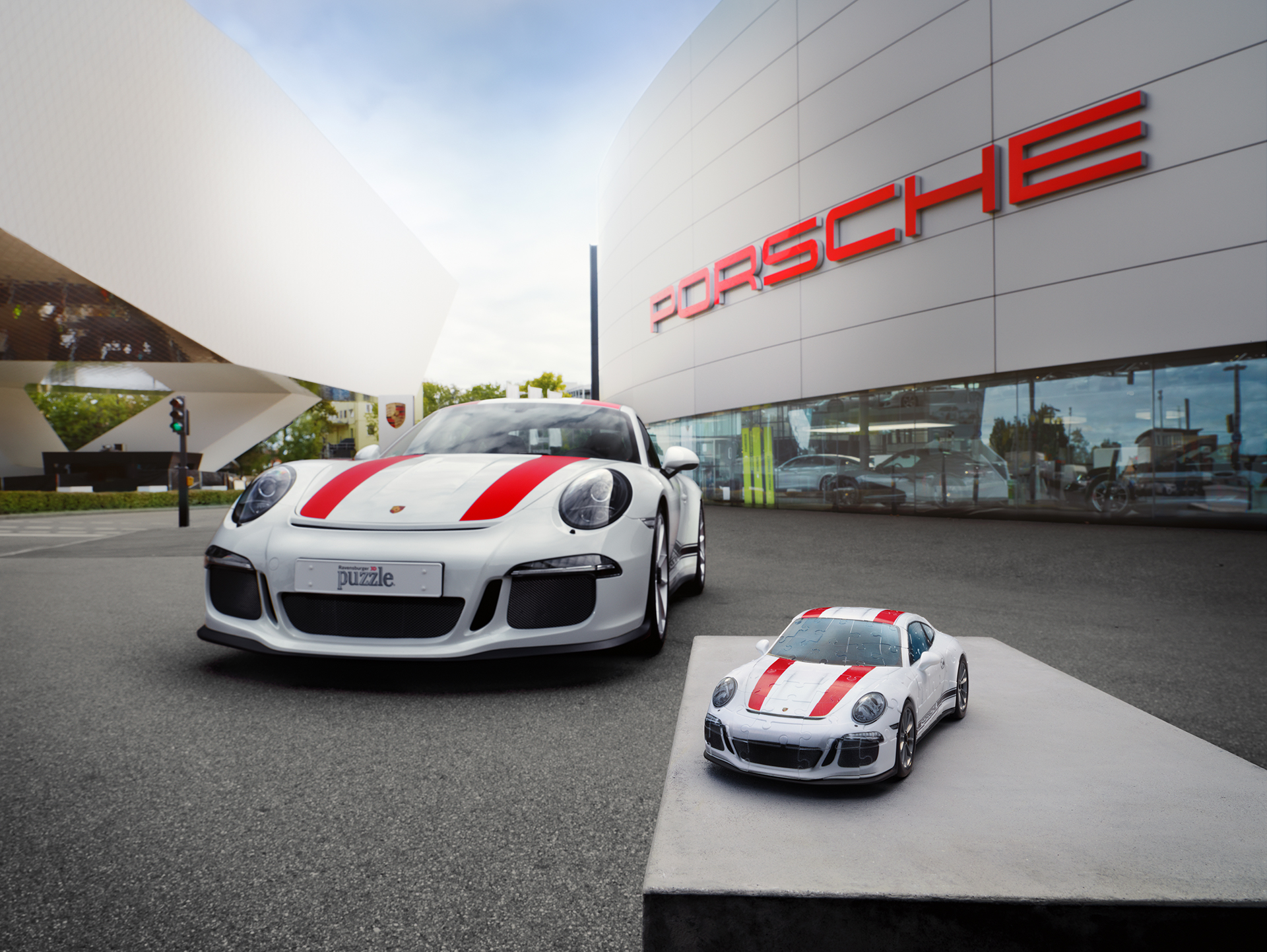 porsche 911r et puzzle 3d porsche 911r. Black Bedroom Furniture Sets. Home Design Ideas